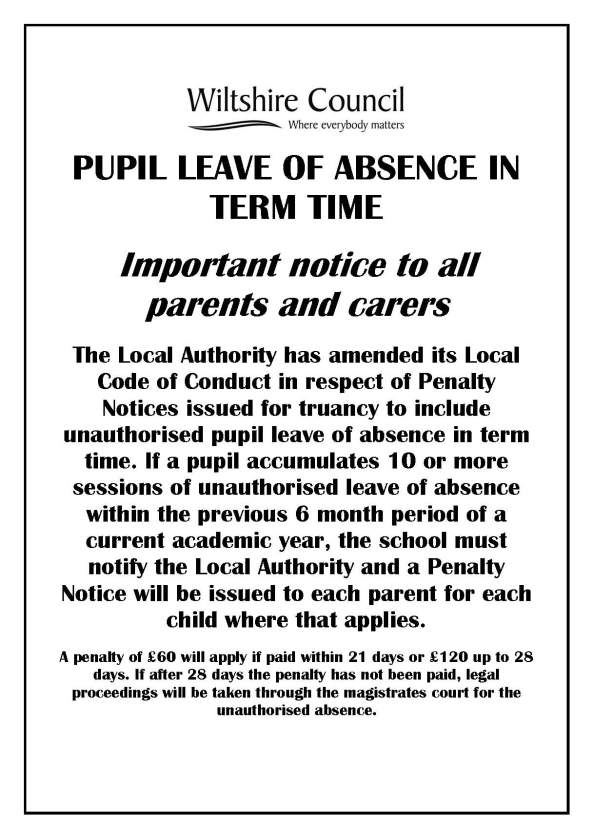 Poster for schools PN Leave of Absence June 2013