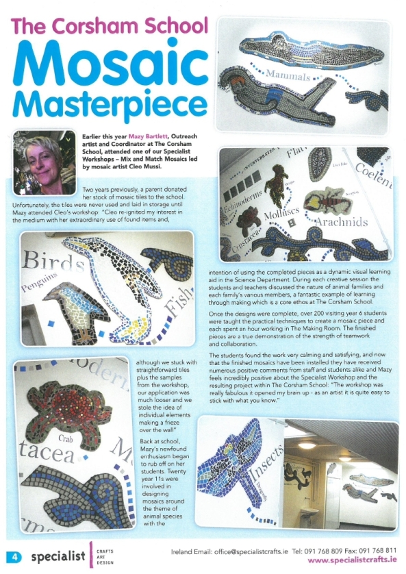 Specialist Craft Magazine Article