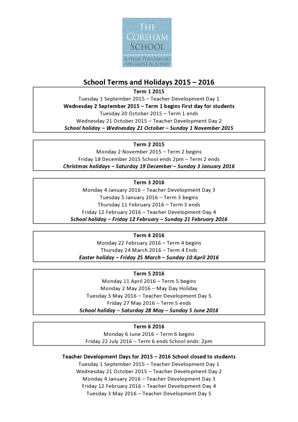 School holiday dates for 2015-2016-page0001