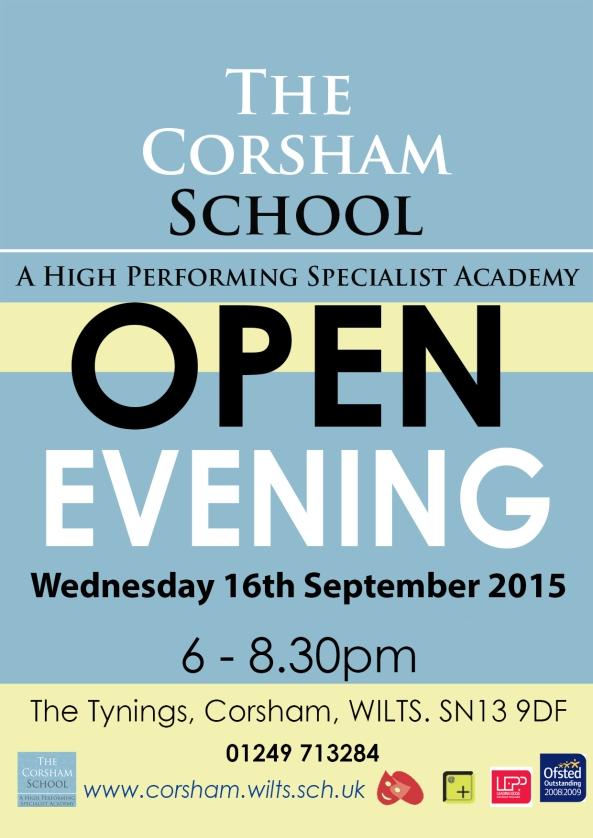 Open Evening poster 2015